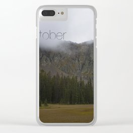 O'Misty Mountain Clear iPhone Case