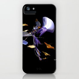Blowing Leaves iPhone Case