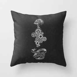 Don't Let The Bastards Grind You Down Dark Grey Throw Pillow