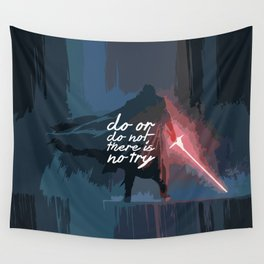 "Do or do not there is no try...""Yoda"" Life Inspirational Quote (Abstract Art) Wall Tapestry"