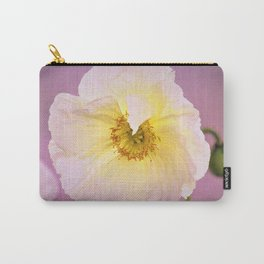White Poppy at Sunset by Reay of Light Carry-All Pouch