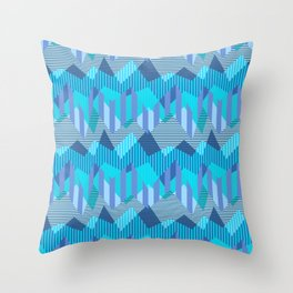 ZigZag All Day - Blue Throw Pillow