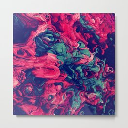 Abstract Experimental Expansive Coloring V.7 Metal Print