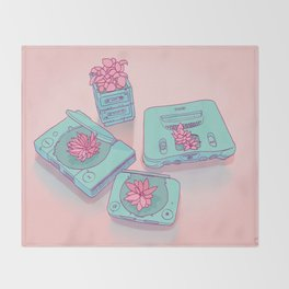 Flowers & Consoles Throw Blanket