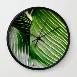 Big Leaves - Tropical Nature Photography Wall Clock