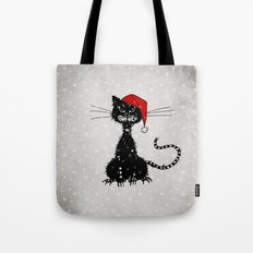 Evil Christmas Cat Tote Bag