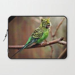 Tiger Parakeet Laptop Sleeve