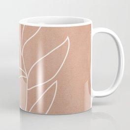 Engraved Leaf Line Coffee Mug