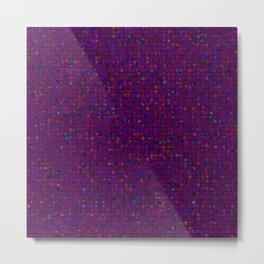 Antique Texture Plum Purple Metal Print