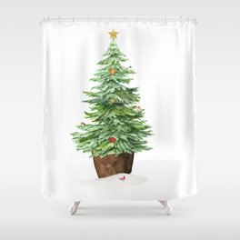 Trimming The Tree Shower Curtain