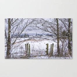 A snowy view to Wardle Canvas Print