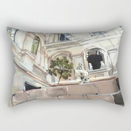 Statue Room in the Louvre Rectangular Pillow