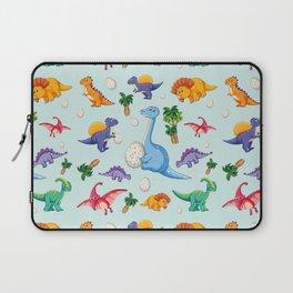 Colorful Cute Dinosaur Pattern Laptop Sleeve