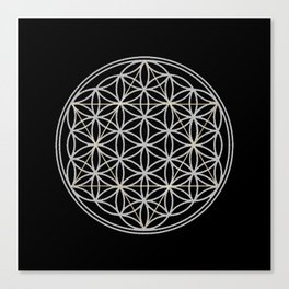 Flower of Life and Star of David Canvas Print