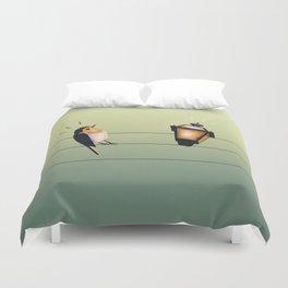 Feeling Wired (Green) Duvet Cover