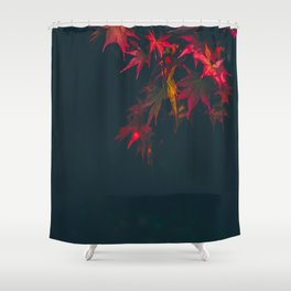 Sensual Red Japanese Maple Shower Curtain