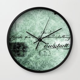 Grunge Damask III Wall Clock