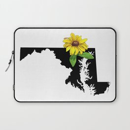 Maryland Silhouette and Flower Laptop Sleeve