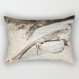 Smiling Desert Lizard Rectangular Pillow