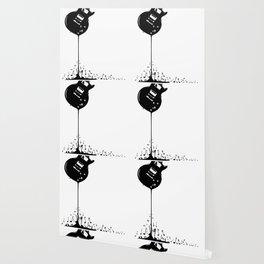 Bubbling Musical Notes Wallpaper