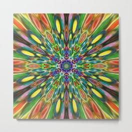 Multicolour Starburst 6 Metal Print