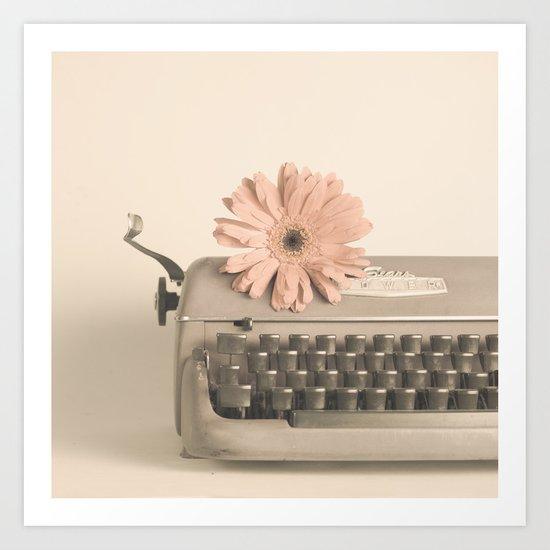 Soft Typewriter (Retro and Vintage Still Life Photography) Art Print