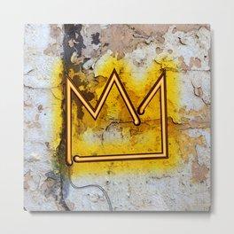 "Crown ""B"" – NEON Metal Print"