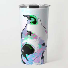 Pit bull - Puzzled - Pop Art Travel Mug