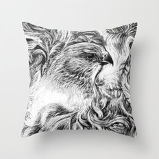 Feathers Among Ferns Throw Pillow