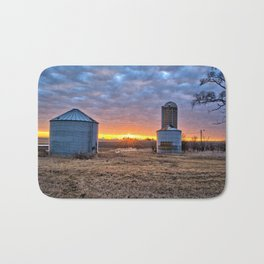Grain Bin Sunset Bath Mat