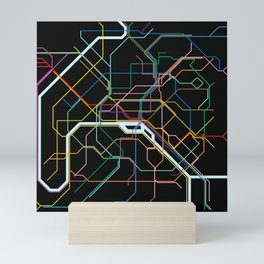 Paris Subway Map Mini Art Print