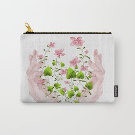 Blooming Hands Carry-All Pouch