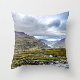 Seyðisfjörður - Ring Road - Iceland - Travel Photography - Drawn Voyage Throw Pillow