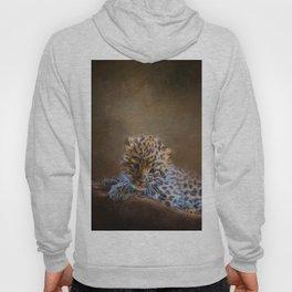 Cute painting amur leopard cub Hoody