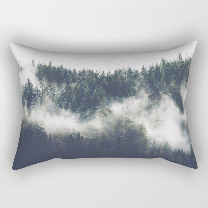 Abstract Forest Fog Rectangular Pillow