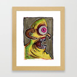 One Eyed Monster Framed Art Print