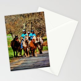 Horses Going Home Stationery Cards
