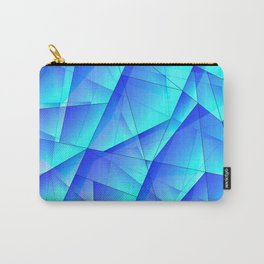 Abstract celestial pattern of blue and luminous plates of triangles and irregularly shaped lines. Carry-All Pouch