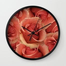 Persian Red Roses Wall Clock