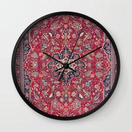 Bijar Kurdish Northwest Persian Rug Print Wall Clock