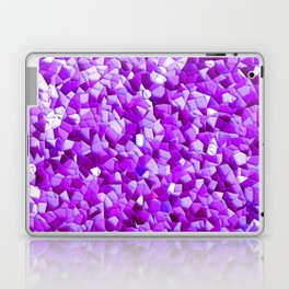 random purple shapes Laptop & iPad Skin