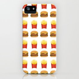 Burgers and Fries Pattern iPhone Case