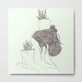 Pot Head Metal Print