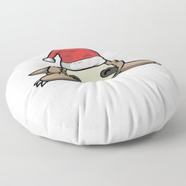 Wake Me Up When It's Slothmas Sloth Candy Cane Floor Pillow