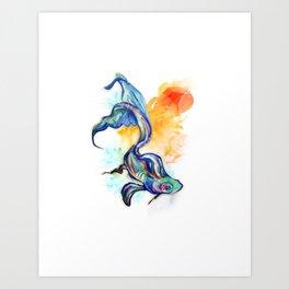 In Streams Art Print