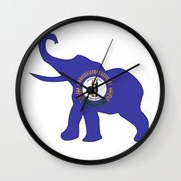 Kentucky Republican Elephant Flag Wall Clock