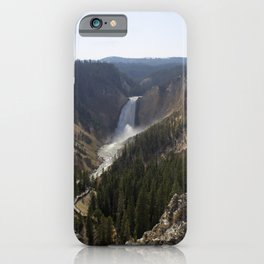 lower falls, grand canyon of yellowstone iPhone Case