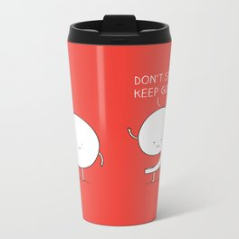 positive punctuation Metal Travel Mug