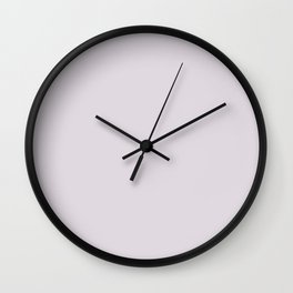 Beautiful Ultra Pastel Purple Solid Color Pairs To Sherwin Williams Lite Lavender SW 6554 Wall Clock