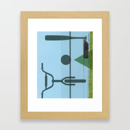 Lawn study 2 Framed Art Print